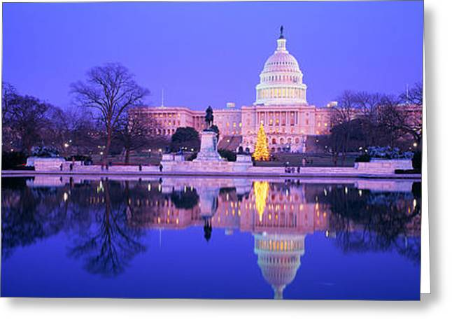 Christmas, Us Capitol, Washington Dc Greeting Card