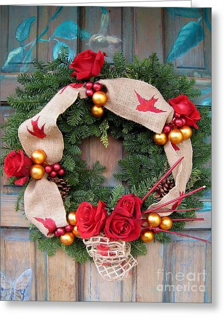 Christmas Welcome Greeting Card by Maureen J Haldeman