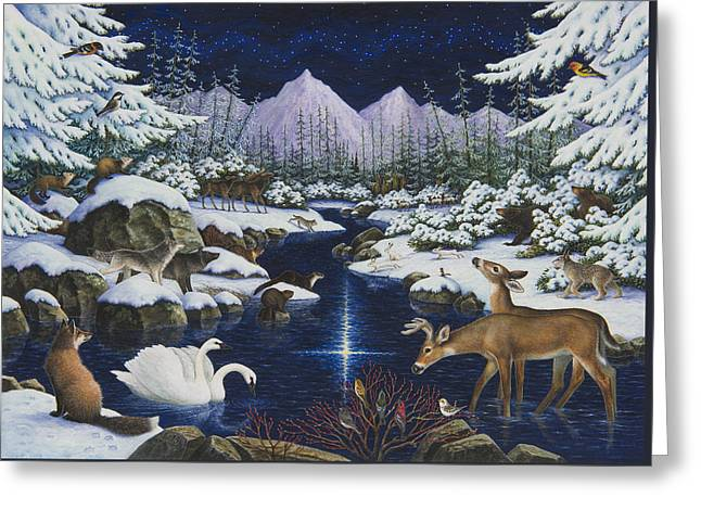 Christmas Wonder Greeting Card by Lynn Bywaters