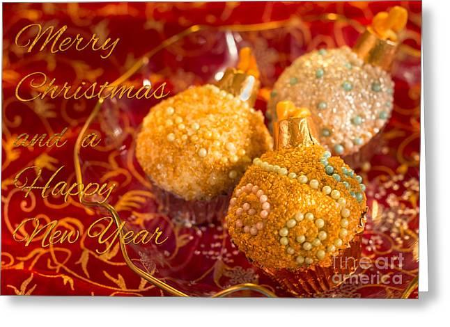 Christmasball Cupcakes Greeting Card