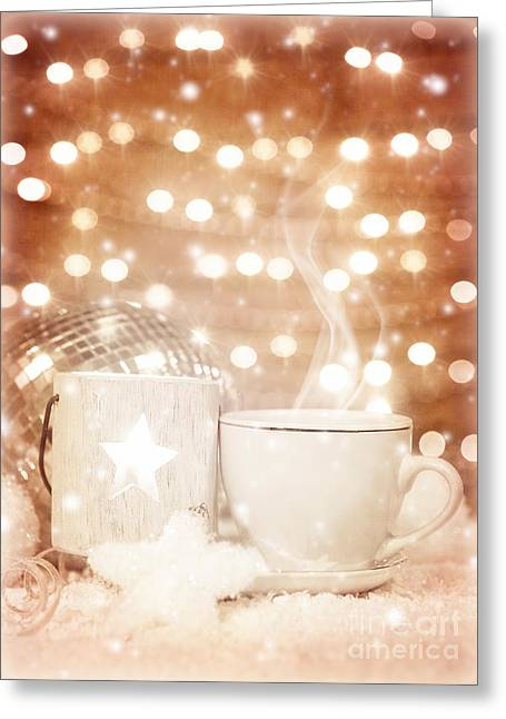 Christmastime Coffee Greeting Card by Anna Om
