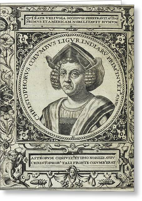Christopher Columbus Greeting Card by British Library
