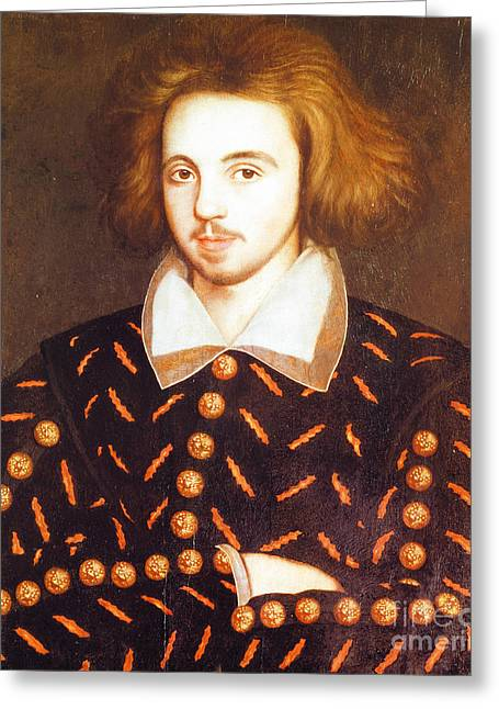 Christopher Marlowe, English Playwright Greeting Card