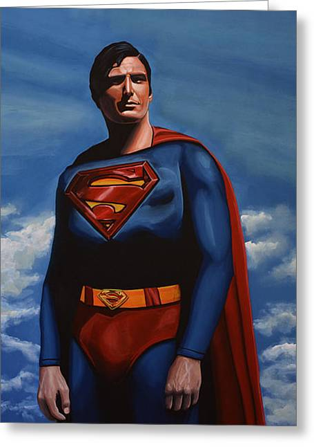 Christopher Reeve As Superman Greeting Card