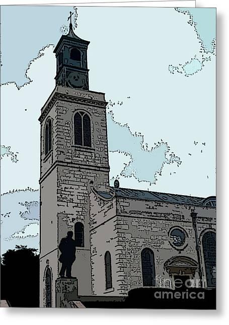 Iron curtain speech greeting cards fine art america christopher wren church greeting card m4hsunfo