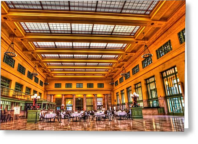 Christos Saint Paul Union Depot Greeting Card by Amanda Stadther