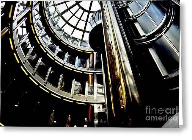Chrome And Glass Greeting Card by Heiko Koehrer-Wagner