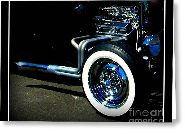 Greeting Card featuring the photograph Chrome  by Bobbee Rickard