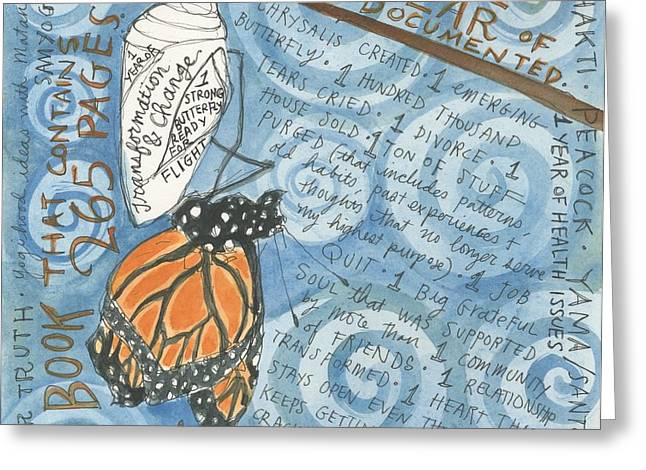 Chrysalis Greeting Card by Jennifer Mazzucco