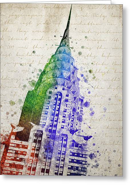 Chrysler Building Greeting Card by Aged Pixel