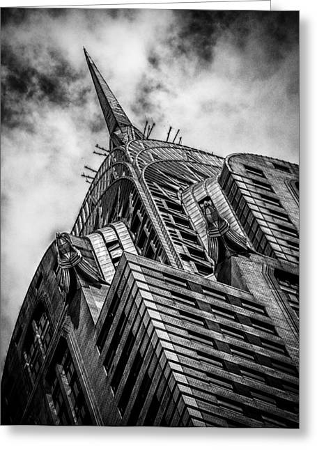 Chrysler Building - Black And White Greeting Card
