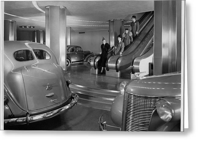 Chrysler Building Car Showroom Greeting Card