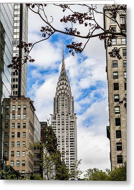 Chrysler Building Greeting Card by Chris Halford