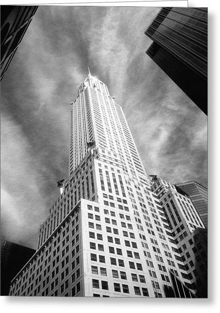 Chrysler Building Infrared Greeting Card