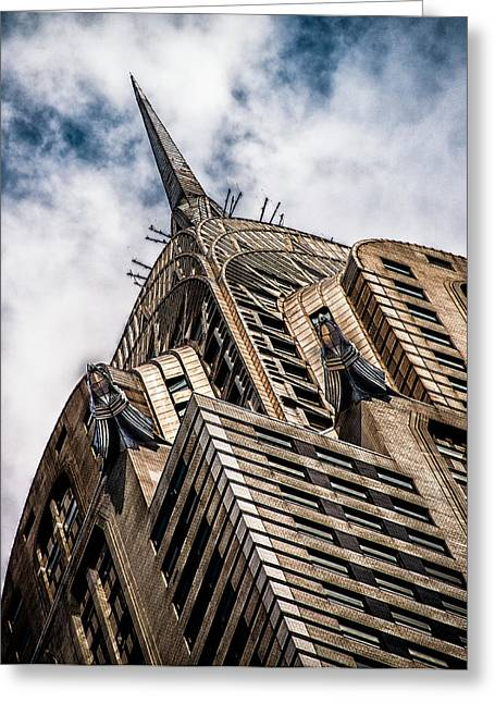Greeting Card featuring the photograph Chrysler Building by James Howe