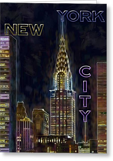 Chrysler Building New York City Nyc Greeting Card by Susan Candelario