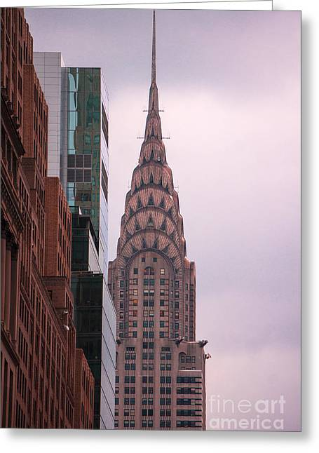 Chrysler Building Greeting Card by Rafael Quirindongo