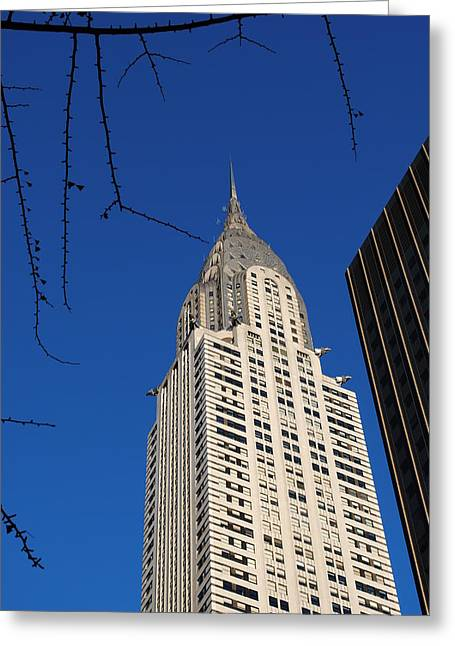 Chrysler Building Greeting Card by Robert  Moss