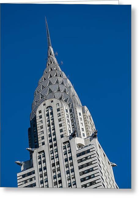 Chrysler Building Greeting Card by Susan Candelario
