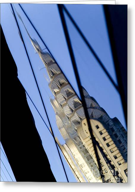 Chrysler Building Greeting Card by Tony Cordoza