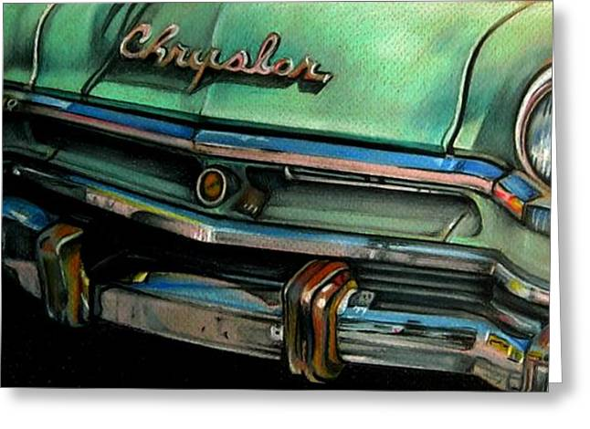 Chrysler Smile Greeting Card by Kathleen Bischoff