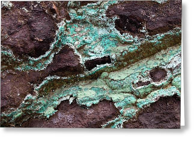 Chrysocolla Greeting Card by Dirk Wiersma