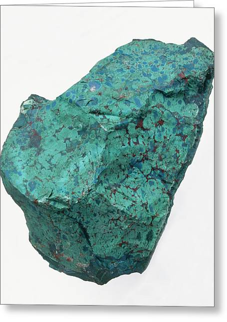 Chrysocolla In Groundmass Greeting Card by Dorling Kindersley/uig