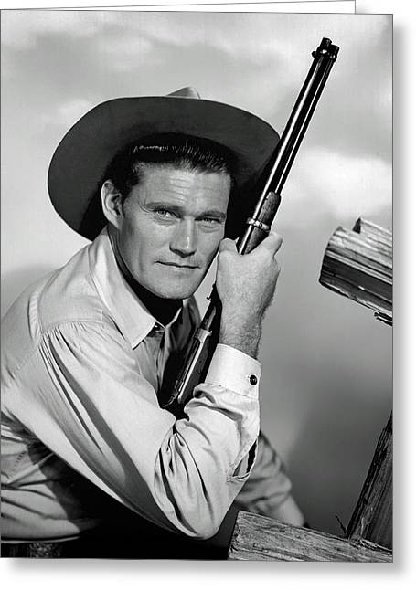 Chuck Connors - The Rifleman Greeting Card by Mountain Dreams