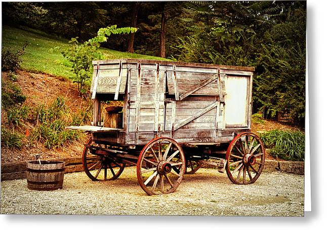Chuck Wagon Greeting Card by Mary Timman