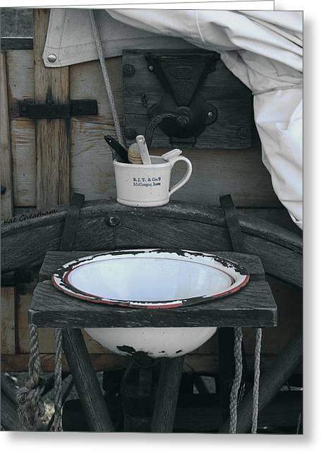 Chuckwagon Wash Basin Greeting Card