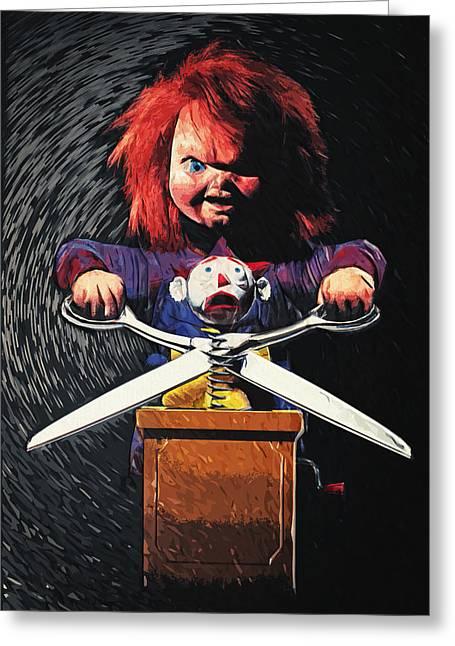 Chucky Greeting Card by Taylan Apukovska