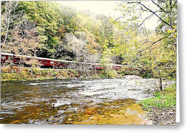 Chug Along The River Greeting Card by Allicat Photography