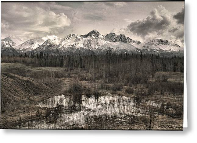 Chugach Mountain Range Greeting Card