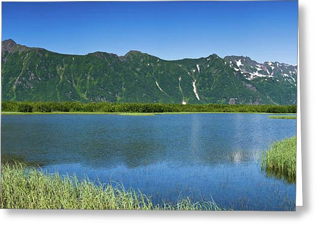 Chugach Mountains At Prince William Greeting Card
