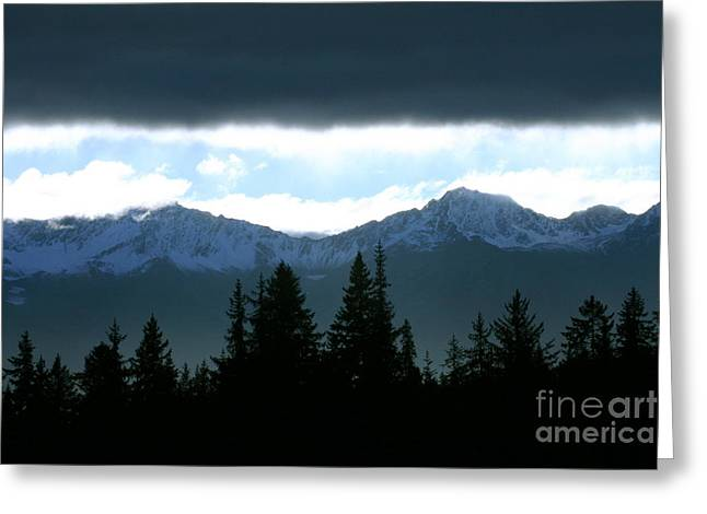 Chugach Mountains Greeting Card by Crystal Magee