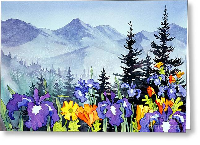 Greeting Card featuring the painting Chugach Summer by Teresa Ascone