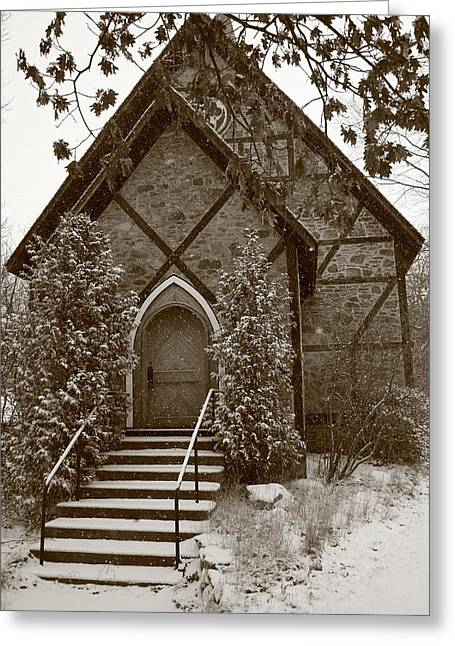 Church Algoma University Greeting Card