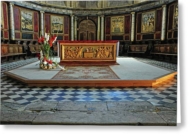 Greeting Card featuring the photograph Church Alter Provence France by Dave Mills