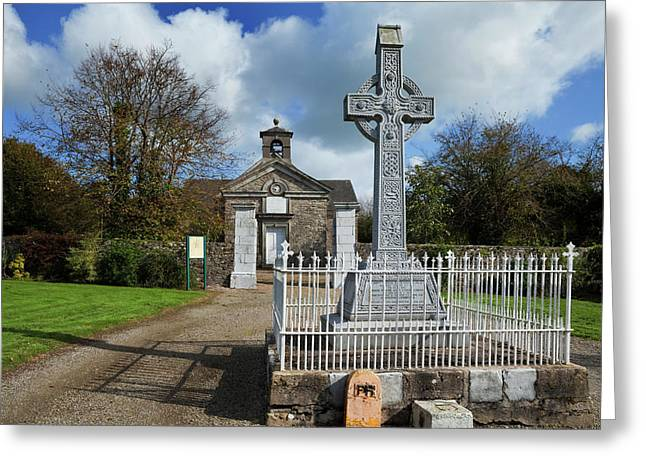 Church And Village Cross,villierstown Greeting Card by Panoramic Images