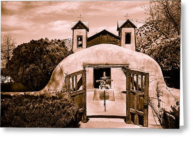 Church At Chimayo New Mexico Greeting Card by Steven Bateson