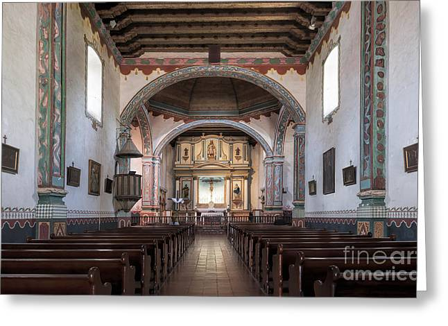 Church At Mission San Luis Rey Greeting Card by Sandra Bronstein