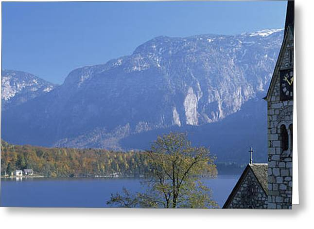 Church At The Lakeside, Hallstatt Greeting Card by Panoramic Images