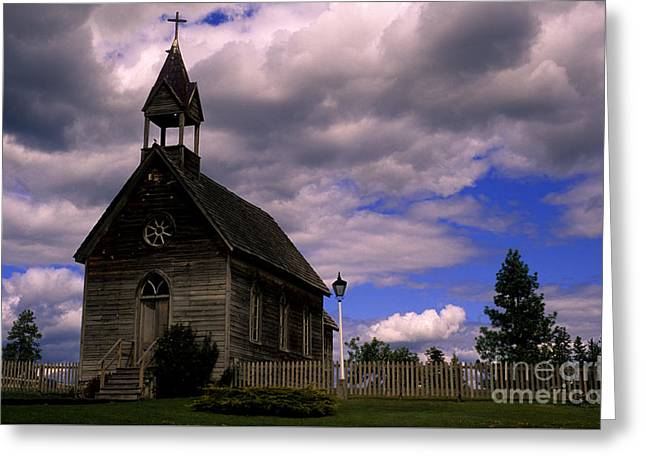 Church At The Okeefe Ranch Greeting Card by Bob Christopher