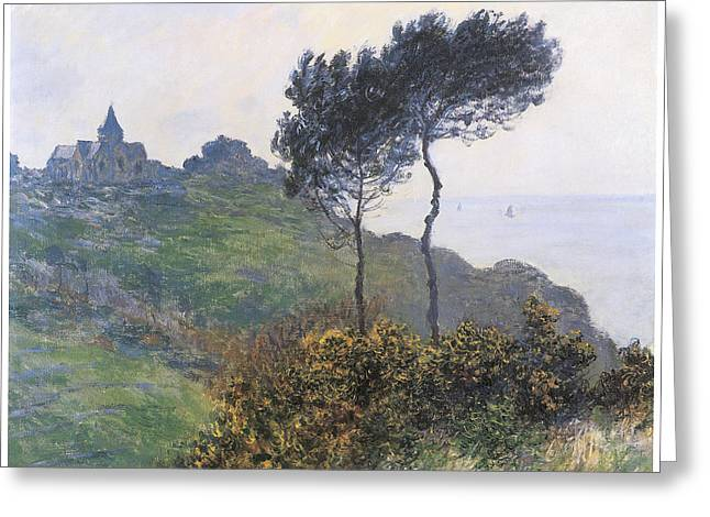 Church At Varengeville Greeting Card by Claude Monet