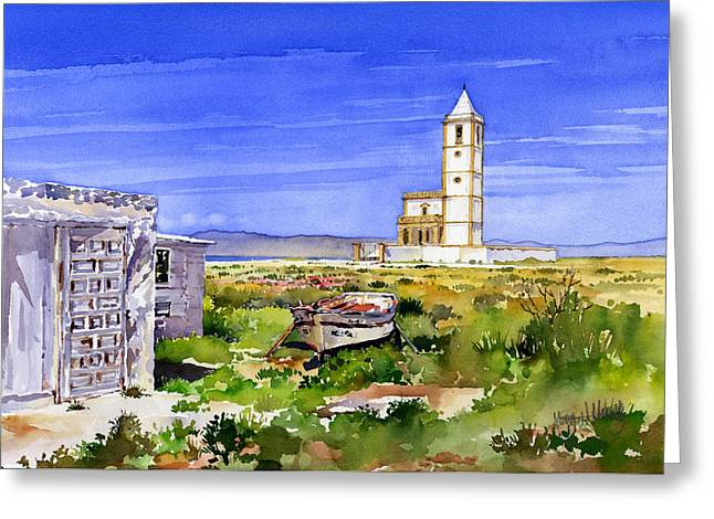 Church By The Salt Flats Greeting Card by Margaret Merry