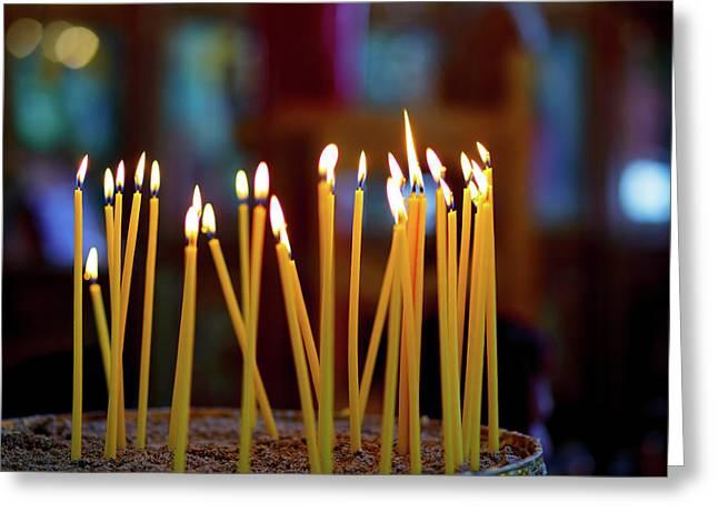 Church Candles Greeting Card