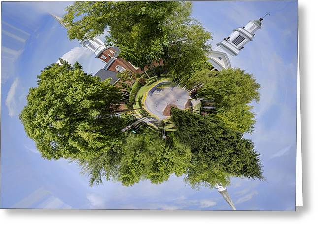Church Circle Greeting Card by Heather Applegate