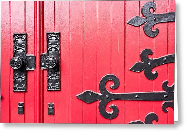 Church Door Greeting Card by Niels Nielsen