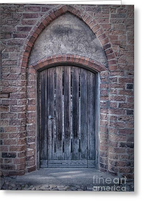 Church Doors 01 Greeting Card by Antony McAulay