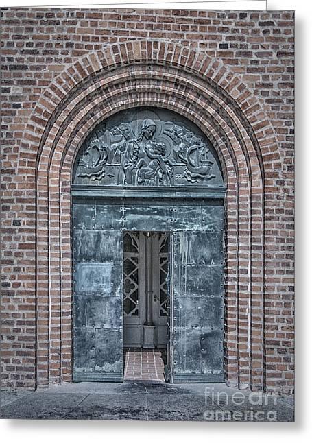 Church Doors 02 Greeting Card by Antony McAulay